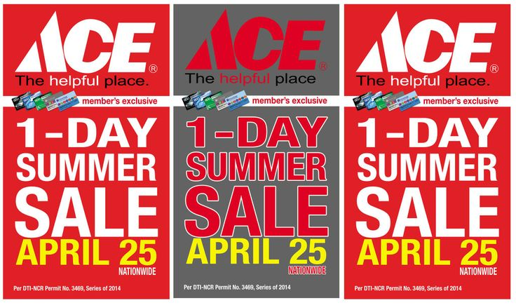 Mark the date - April 25 for Ace Hardware's 1 day Summer Sale!