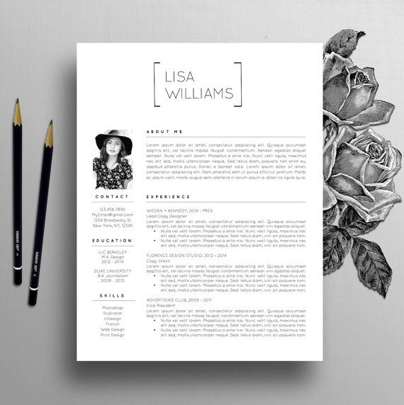 creative resume template instant download word cv template modern resume template designer resume cover letter instant download lisa
