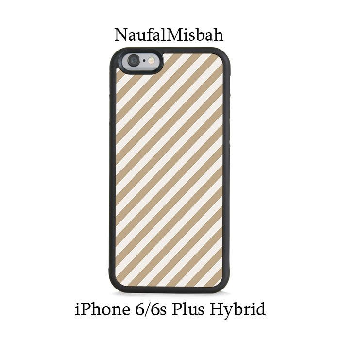 Brown Stripes iPhone 6/6s PLUS HYBRID Case Cover