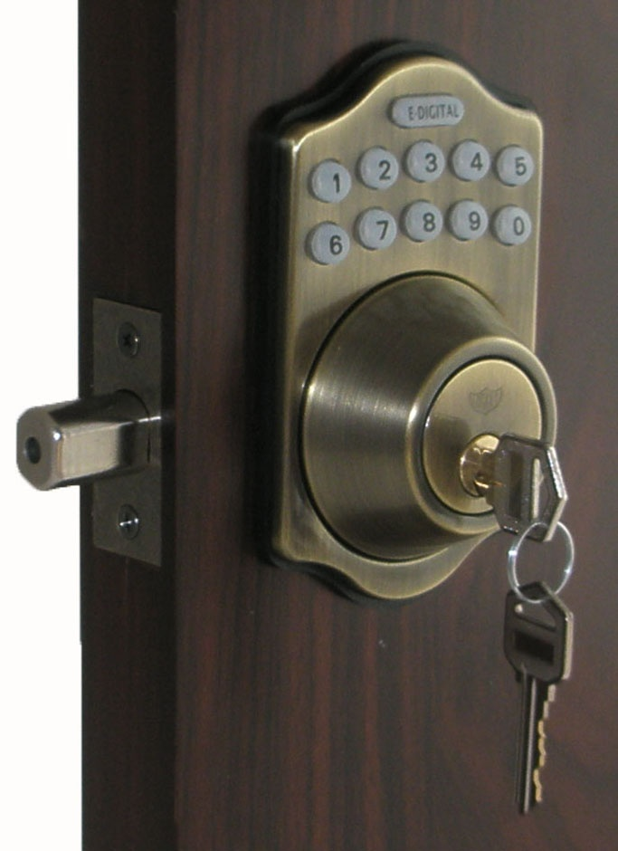 $84.82 A GREAT ELECTRONIC LOCK: Lockey EZ-910 Electronic Deadbolt Keypad  Push-Button