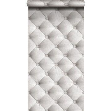 Papier peint sur intissé INSPIRE Capitons, blanc, larg. 0.53 m | Leroy Merlin