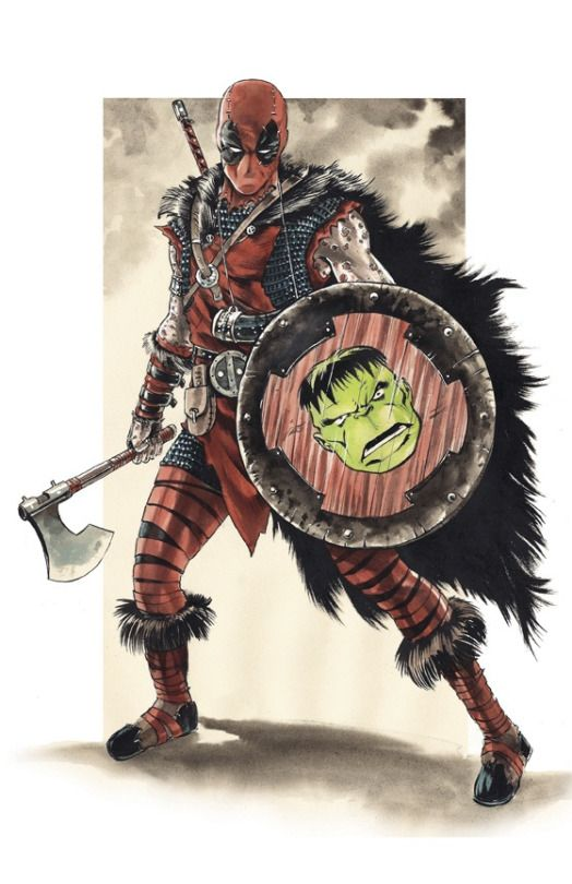 Viking Deadpool by Mike Rooth