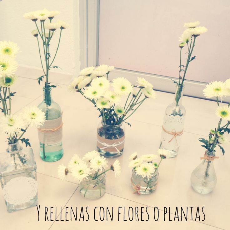 Biufirul: Botellas y Frascos como floreros, flowers, floreros, vintage decor, vintage flowers, recycle, DIY, manualidades con botellas, reciclar botellas