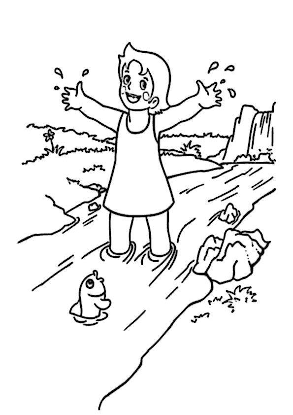 story book character coloring pages   ausmalbilder heidi-2   Dibujos de mi época   Pinterest ...