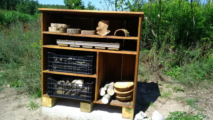 Loose parts storage at HNA Playscape