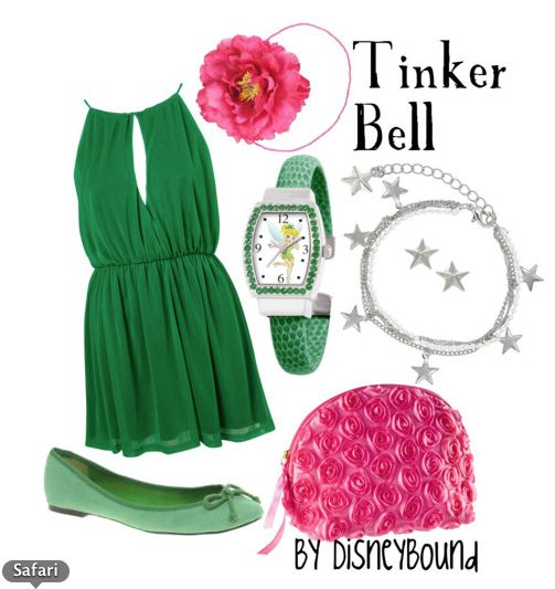 Tinker Bell themed outfit