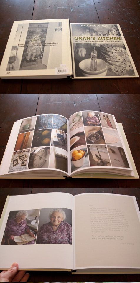 Wonderful ideas for redesign of family cookbook--include photo montages, clippings of family letters, etc. #design