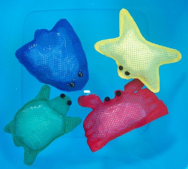 Splash basic est composé de 4 animaux marins insubmersibles.