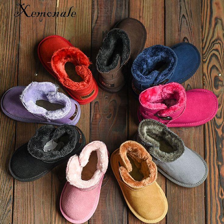 Xemnole moda czarne buty zimowe dla dzieci ciepłe buty dziecko dziewczyny kostki buty malucha buty marki chłopców prawdziwe skórzane buty w Xemnole moda czarne buty zimowe dla dzieci ciepłe buty dziecko dziewczyny kostki buty malucha buty marki chłopców prawdziwe skórzane buty od Boots na Aliexpress.com | Grupa Alibaba