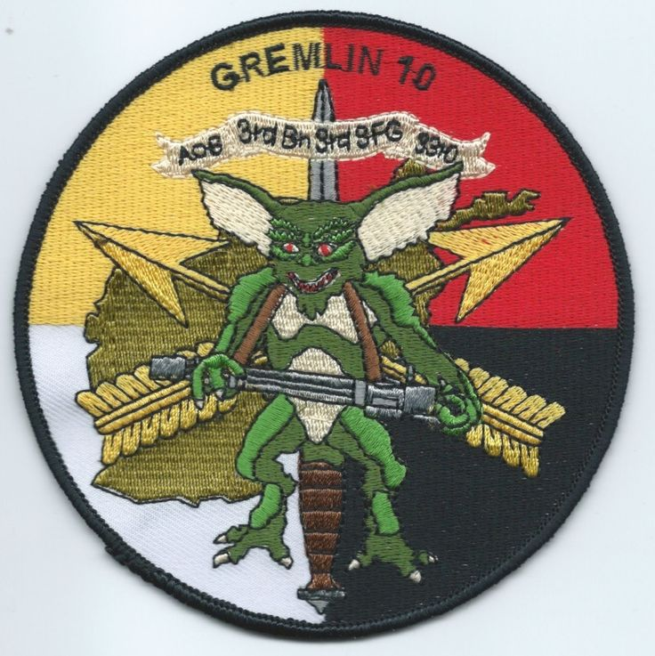 AOB-3310 Gremlin 10 3rd Special Forces Group Patch