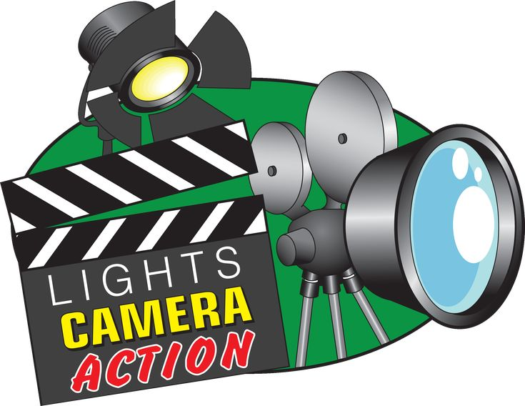 Image result for lights camera action clip art