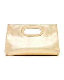 V13AY MICHAEL Michael Kors  Berkley Clutch, Pale Gold $198.00