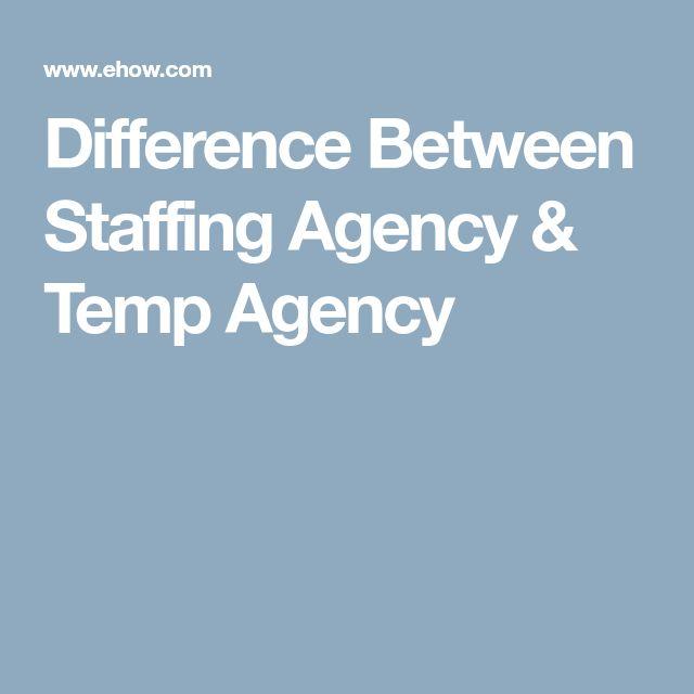 Difference Between Staffing Agency & Temp Agency