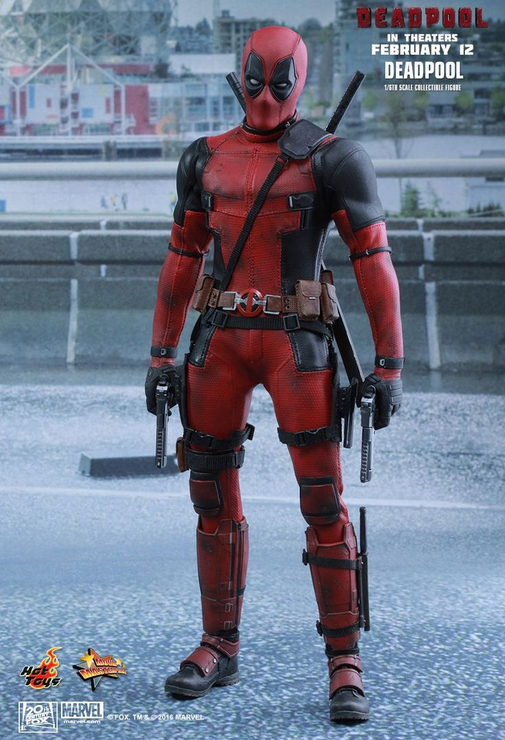 """Hot Toys Marvel Deadpool Movie Masterpiece Series (MMS) Sixth Scale Figure """"Wait 'til you get a load of me."""" Marvel's most unconventional superhero, Deadpool, will finally hit t .."""