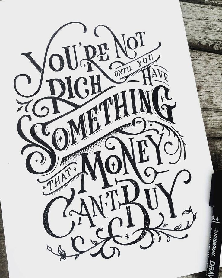 Hand lettering styles