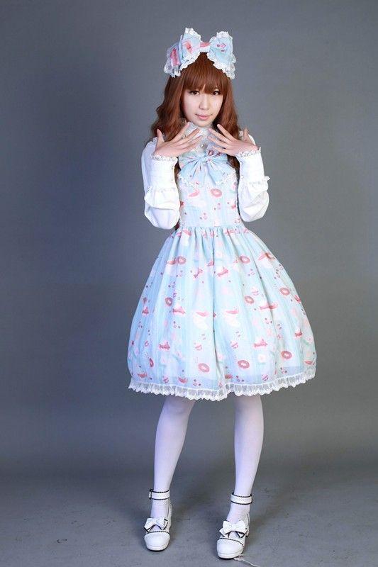 Neverland Lolita ***Sweet Afternoon Tea*** Normal Waist Lolita JSK-$85.99 - My Lolita Dress