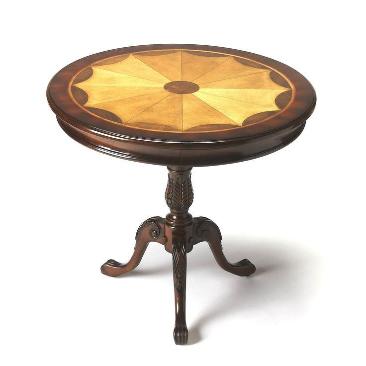 Butler Carissa Cherry Plantation Round Pedestal Table (Butler Carissa Plantation Cherry Pedestal Table), Brown