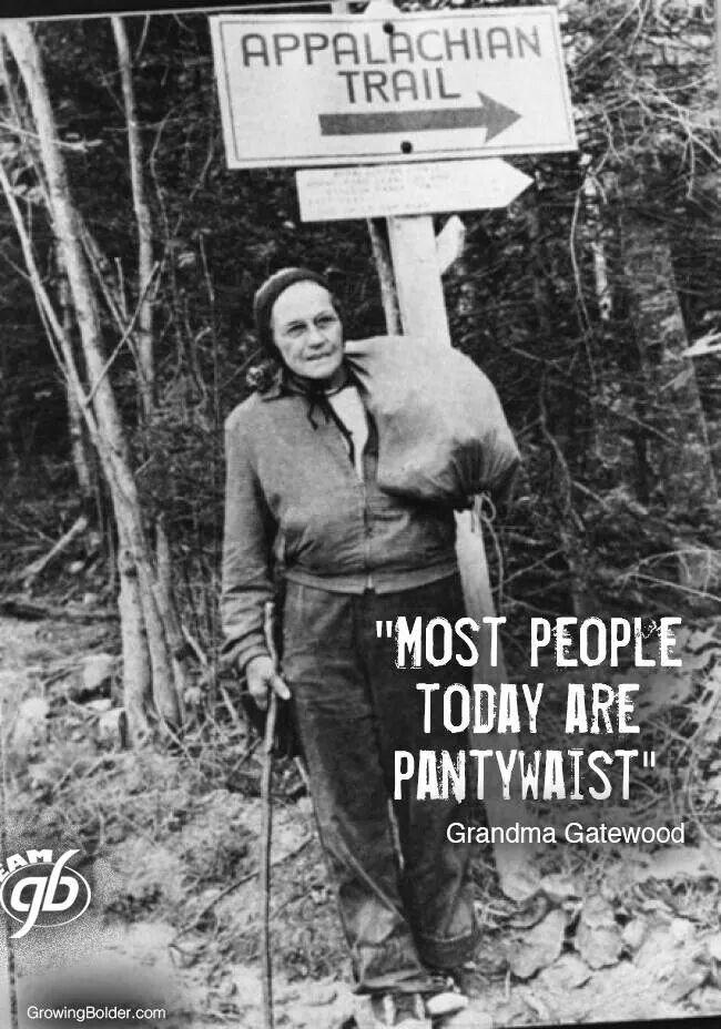 Emma Gatewood - 1st person to hike Appalacian Trail (3 times)