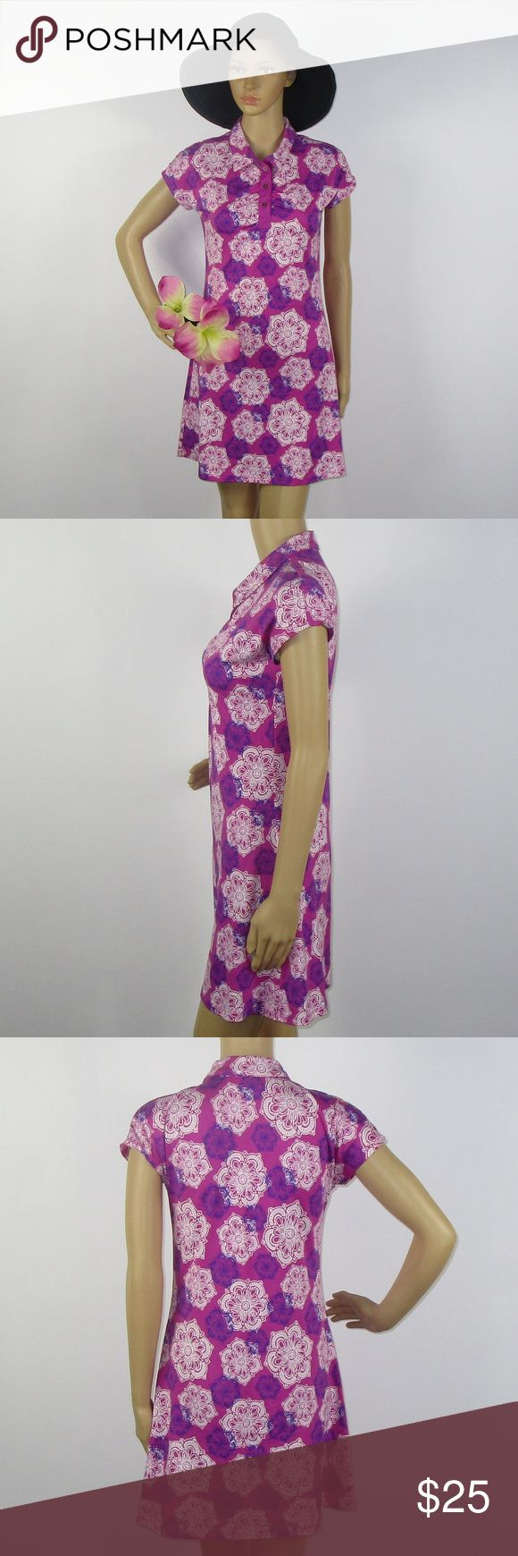 LOLA Activewear Geo Floral Print Athletic Dress XS This cute dress is in excellent condition! As always offers and bundles are welcome. Feel free to add one or more items to a bundle for a private discount offer!!!  Armpit to armpit is 17 inches across Waist is 14.5 inches across Hips are 18 inches across Length is 32 inches LOLA Dresses Mini