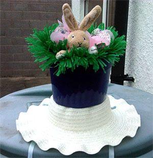 Rabbit Easter bonnet