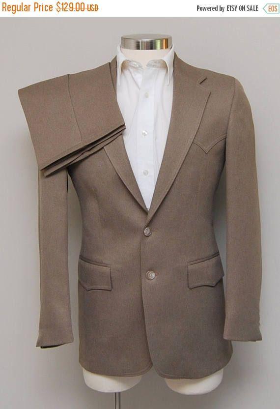 SALE Vintage men's brown western suit/ Vint men's