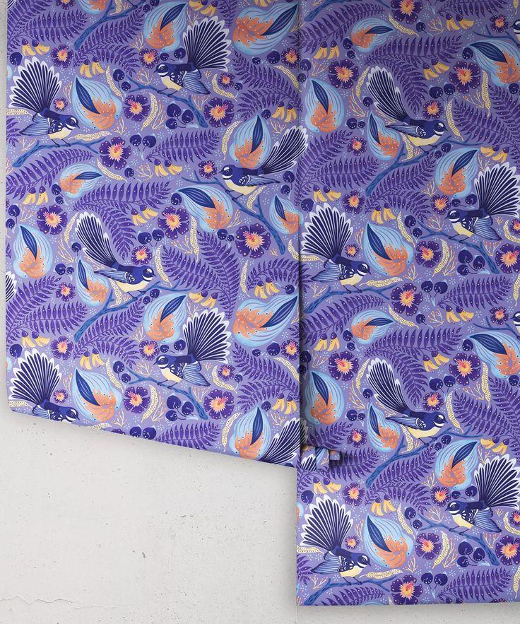 Fantails Wallpaper • Bold Bird Wallpaper • Milton & King