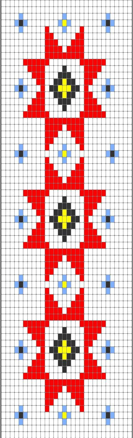 Cherokee Star Beadwork Strip