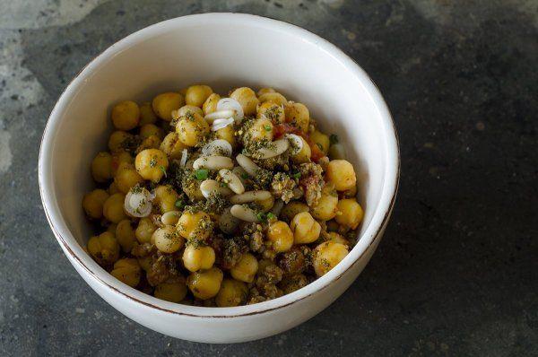 Marokkói húsos csicseriborsó ragu - Fűszeres Eszter