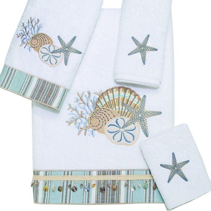 Beach Themed Bath Towels White Tranquil Sea Bath Towel Sea