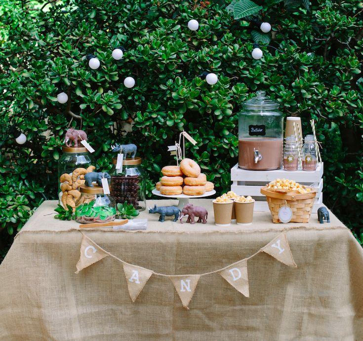 Ideas para una mesa de Fiesta Safari / La Fiesta de Olivia / Libro Fiestas 2016 Marcela Coo / Editorial Planeta / Libros cúpula