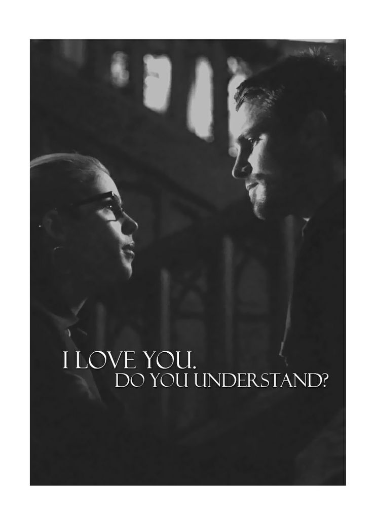 Arrow - Oliver and Felicity - I love you: Do yuo understand?