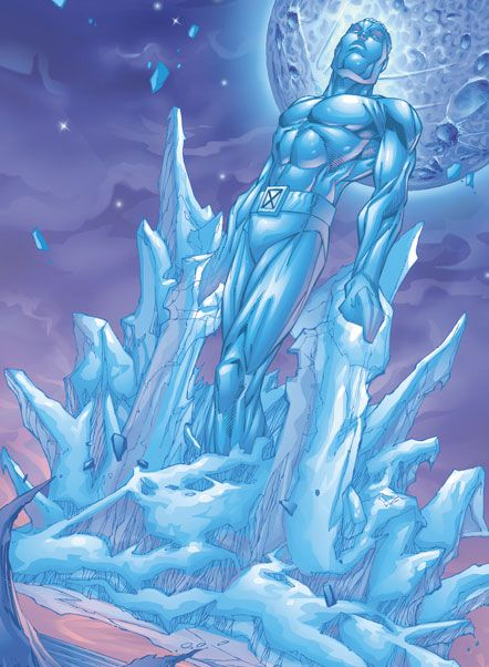 """Iceman (Robert Louis """"Bobby"""" Drake) Second and youngest member of the original team. Former member of the Champions, the Defenders, and X-Factor. Currently a senior staff member at the Jean Grey School for Higher Learning."""