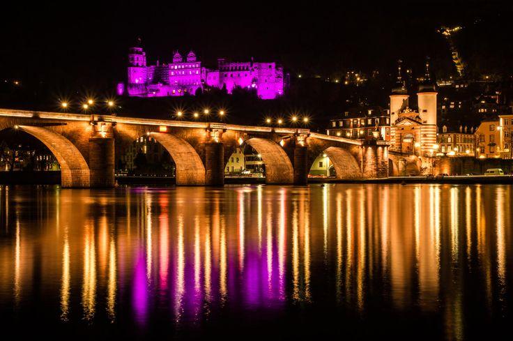 Heidelberg, Germany lite up purple, for World Prematurity Day.