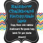 Enjoy these rainbow chalkboard file/grade/copy labels for your plastic drawers. If you love the design, check out the other rainbow chalkboard prod...