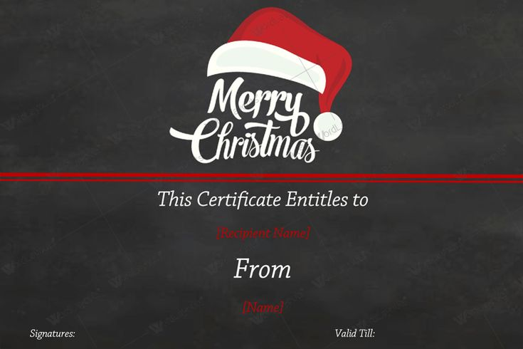 editable gift certificate template for Christmas