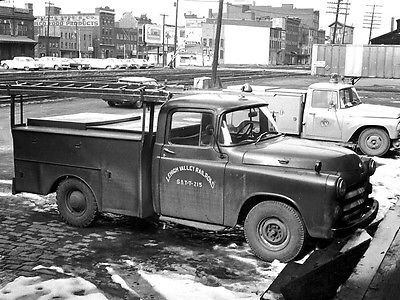 Lehigh Valley Railroad Signal & Telegraph-Telephone-215 Dodge utility at Wilkes-Barre, Pa. on 3-23-67.  This is a typical Section Lineman's truck equipped with extension ladder and roof mounted trouble spot light. On Conrail we had newer trucks just like this one that were equipped with 2-way radio's.