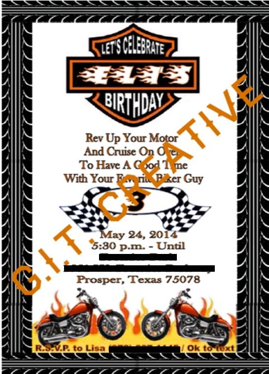 34 best Birthday Theme images – Free Printable Harley Davidson Birthday Cards