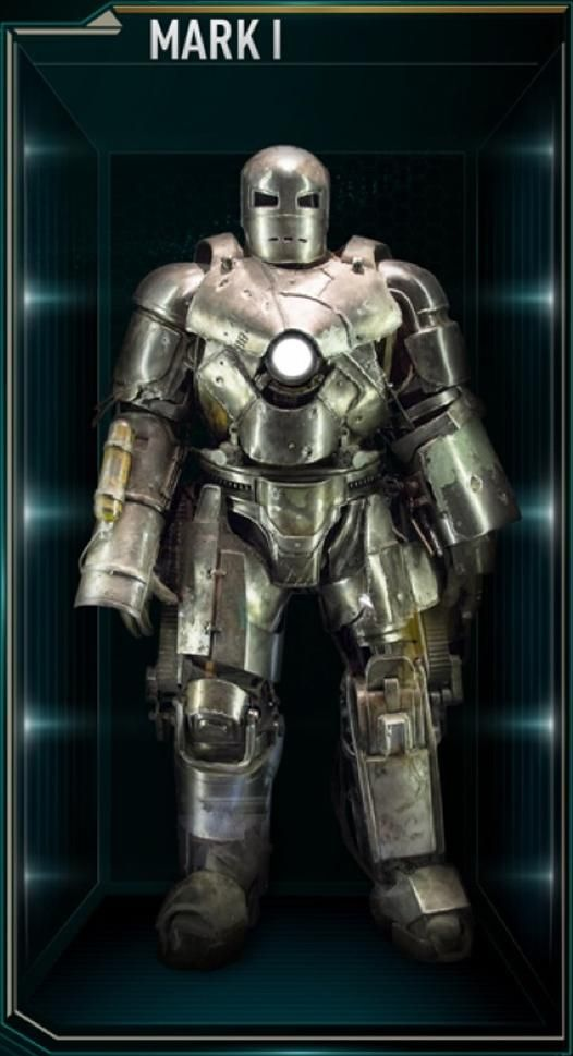 "Iron Man Movie Armors: MARK XXV ""Striker"" (Powerful jackhammer like hands can withstand electrical surges, unique green colored Arc Reactor)"
