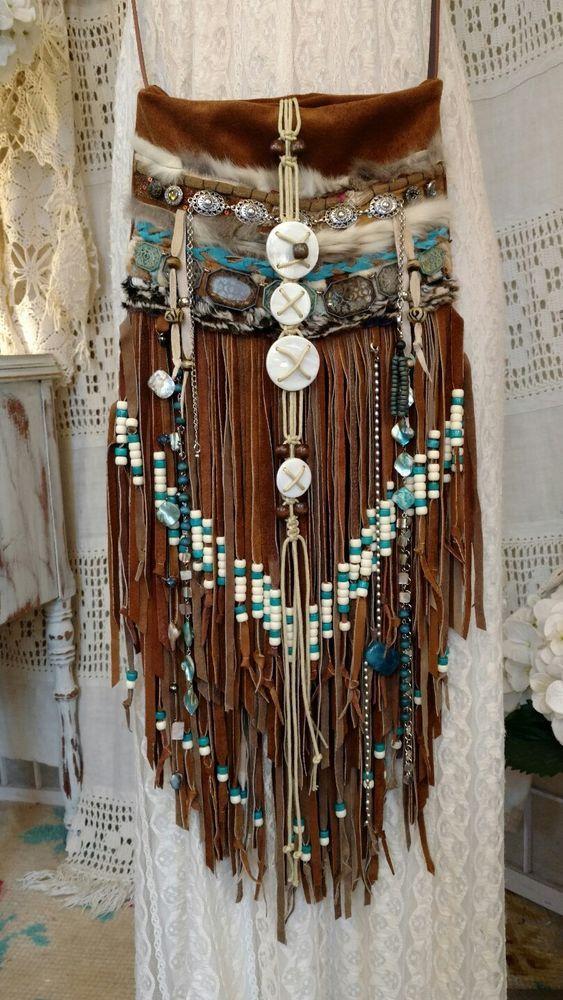 WOW! Handmade Brown Suede Leather Fringe Festival Bag Boho Gypsy Purse tmyers #Handmade #CrossBodyMessenger