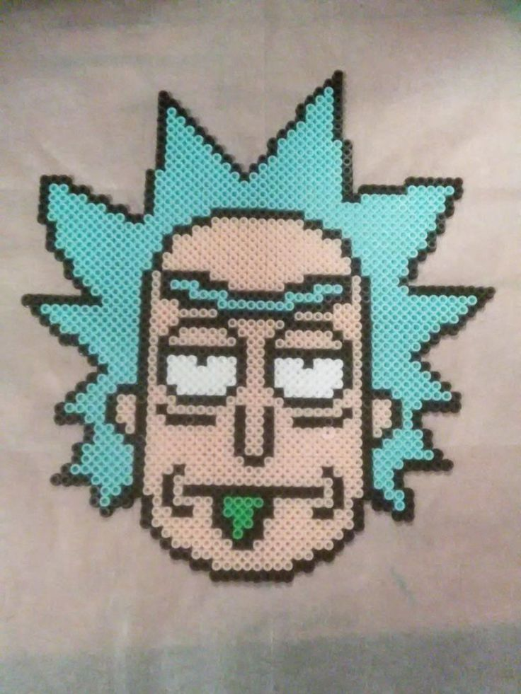 Rick (Rick and Morty) perler beads by xsweetsyn