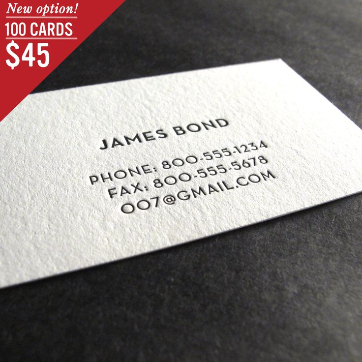 25 best business card images on Pinterest Corporate identity - letterpress business card