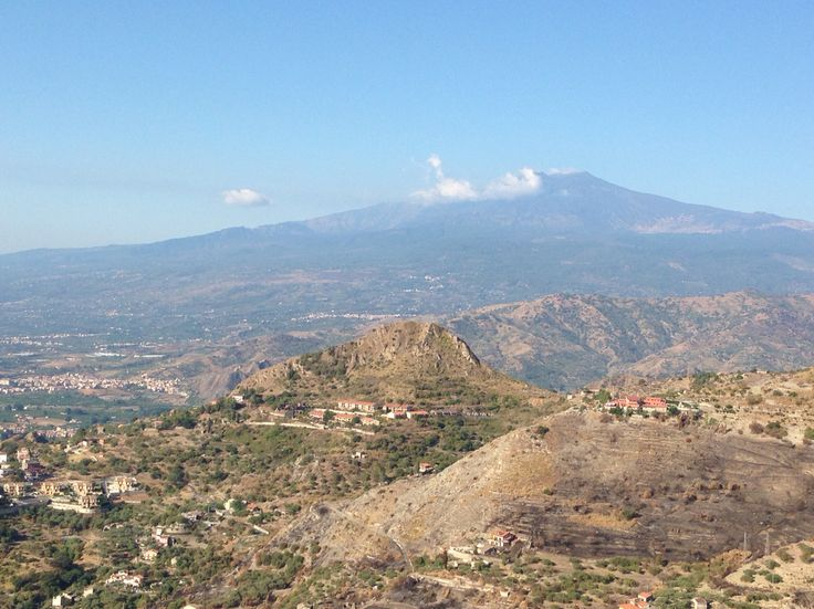 Mount Etna in Catania, Sicily is the largest active volcano in Europe. It was breathing quietly in September 2014