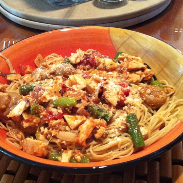 Mamas Healthy Bowls: Whole Wheat Angel Hair Pasta, fresh diced up Mahi ...