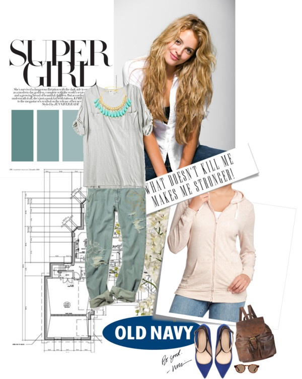 """Super Girl with OLD NAVY"" by leosphotodiary ❤ liked on Polyvore"