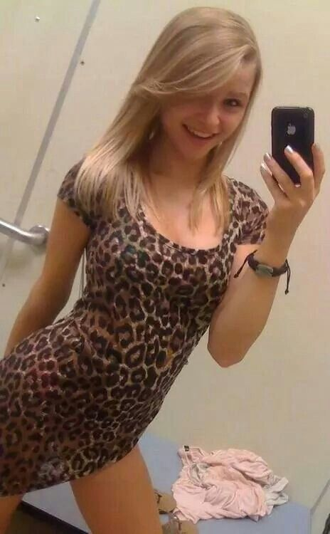 A beautiful brunette pleases herself 6