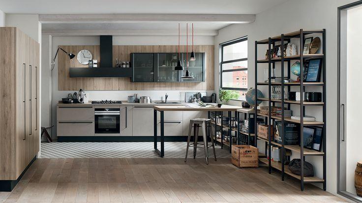 START-TIME: partire con il piede giusto, conferendo allo spazio cucina il sapore giovane di un design dalle linee pure, vestito di colori cool e finiture legno in trend con le tendenze che guardano alla naturalità.