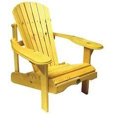 Fauteuil en pin style Adirondack de Bear Chair