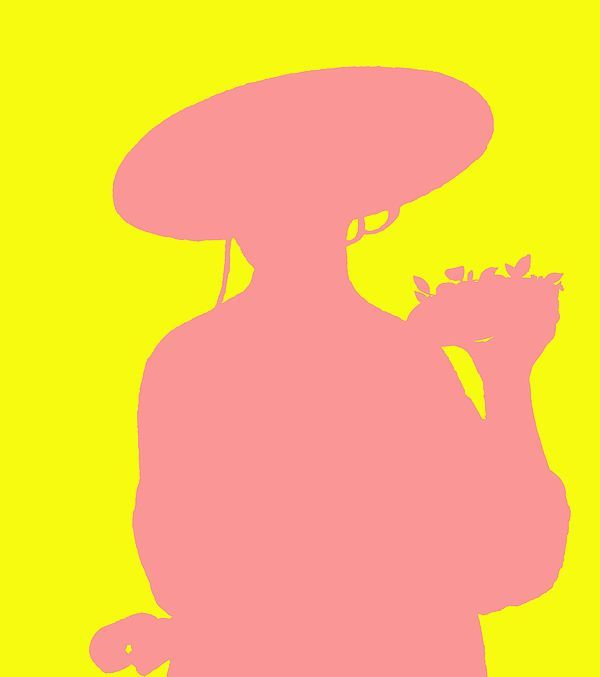Buy Experimental Museum Artwork,bridburg,girl in a large hat, caesar boetius van everdingen,van everdingen,hat,large hat,pink,mauve,yellow,yellow negative space,pink on yellow,cut out,girl with flowers,young women,girl,round hat,girl in round hat,the dutch golden age,contemporary 8 van everdingen,plant in a pot,potted plant,girl carrying a pot,young woman,young woman in a large hat,young,sunny day,yellow sunshine,lovely day,gift,christmas