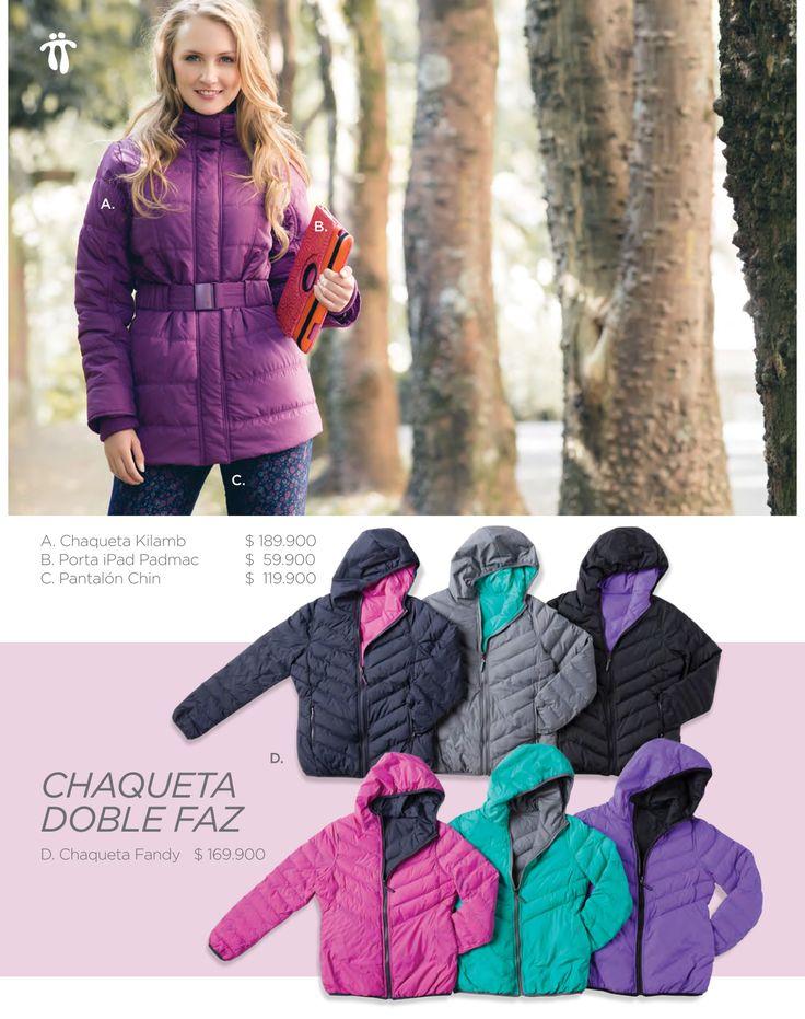 #CuentaConmigo para protegerte de los días fríos.   http://www.totto.com/chaquetas-kilamb-wood-violet/p