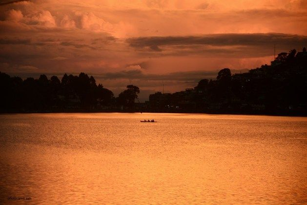 Picture of a beautiful sunset in Nainital... :)